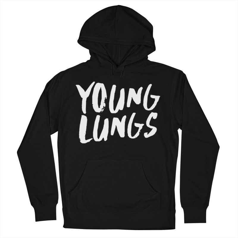 Logo Design Men's French Terry Pullover Hoody by Young Lungs Merch