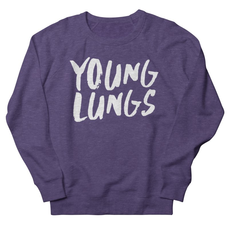 Logo Design Men's French Terry Sweatshirt by Young Lungs Merch