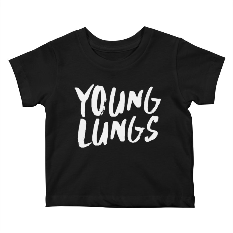 Logo Design Kids Baby T-Shirt by Young Lungs Merch