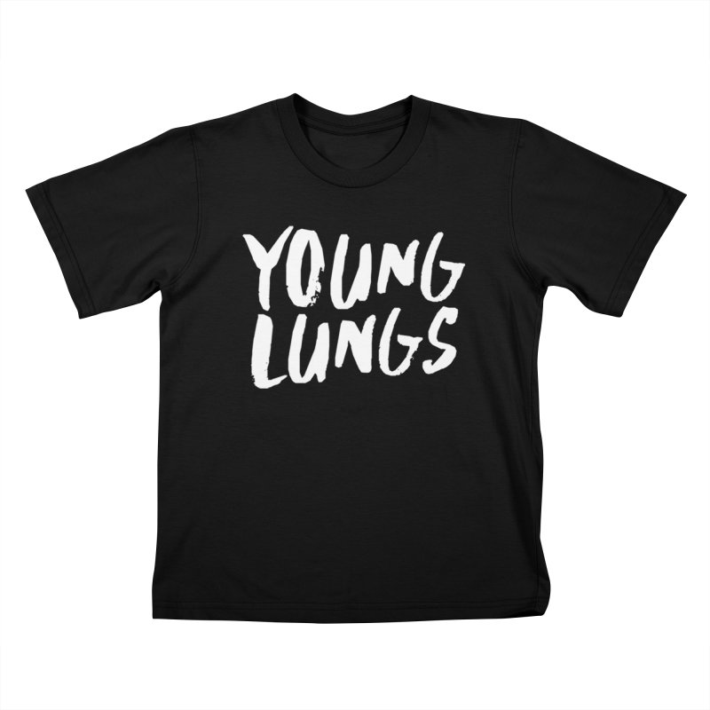 Logo Design Kids T-Shirt by Young Lungs Merch