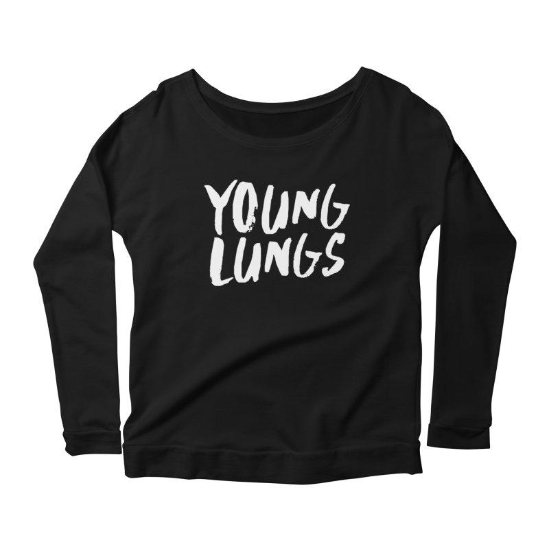 Logo Design Women's Scoop Neck Longsleeve T-Shirt by Young Lungs Merch