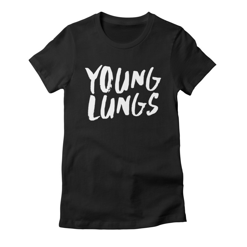 Logo Design Women's Fitted T-Shirt by Young Lungs Merch