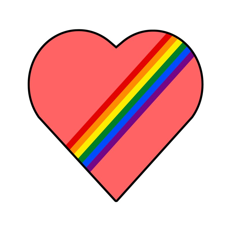 Love Heart with Pride Rainbow by McNutts Design Artist Shop