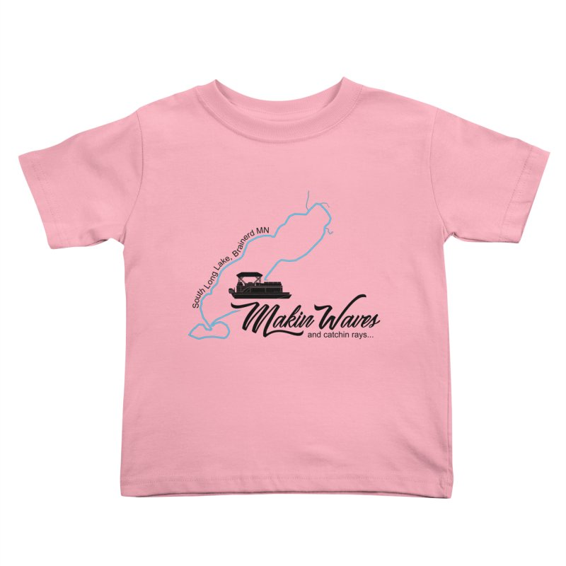 South Long Lake | Makin Waves | Black Lettering Kids Toddler T-Shirt by Your Lake Apparel & Accessories
