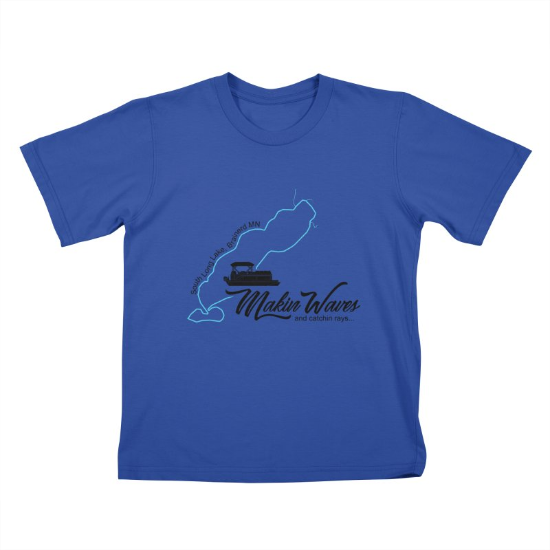South Long Lake   Makin Waves   Black Lettering Kids T-Shirt by Your Lake Apparel & Accessories