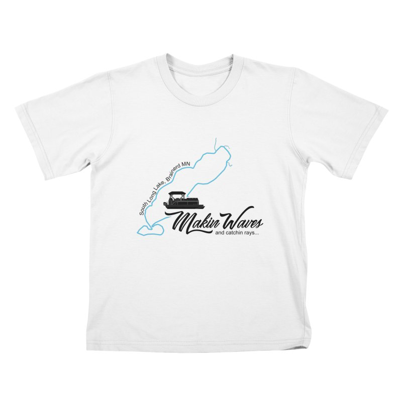 South Long Lake | Makin Waves | Black Lettering Kids T-Shirt by Your Lake Apparel & Accessories