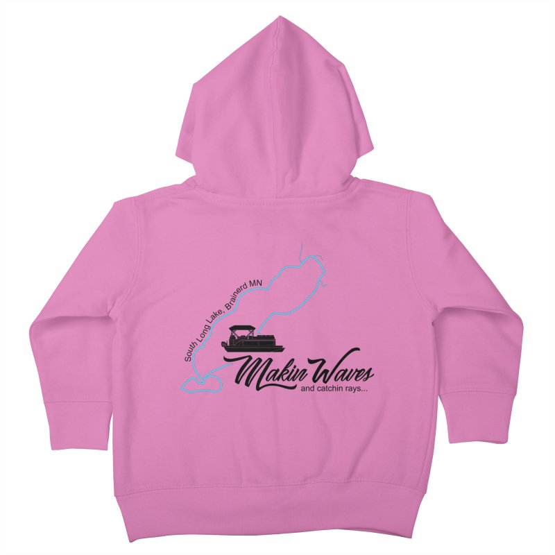 South Long Lake | Makin Waves | Black Lettering Kids Toddler Zip-Up Hoody by Your Lake Apparel & Accessories