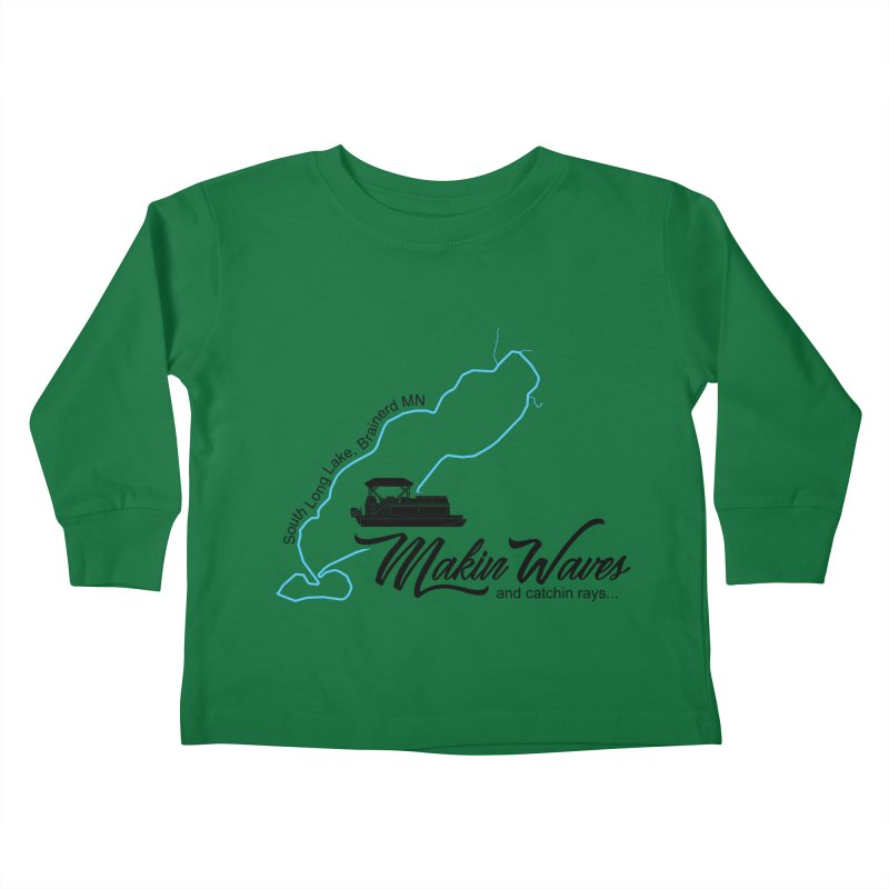 South Long Lake | Makin Waves | Black Lettering Kids Toddler Longsleeve T-Shirt by Your Lake Apparel & Accessories