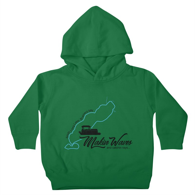 South Long Lake | Makin Waves | Black Lettering Kids Toddler Pullover Hoody by Your Lake Apparel & Accessories