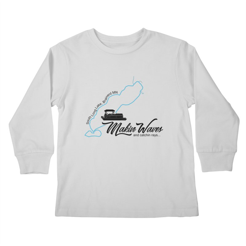 South Long Lake | Makin Waves | Black Lettering Kids Longsleeve T-Shirt by Your Lake Apparel & Accessories