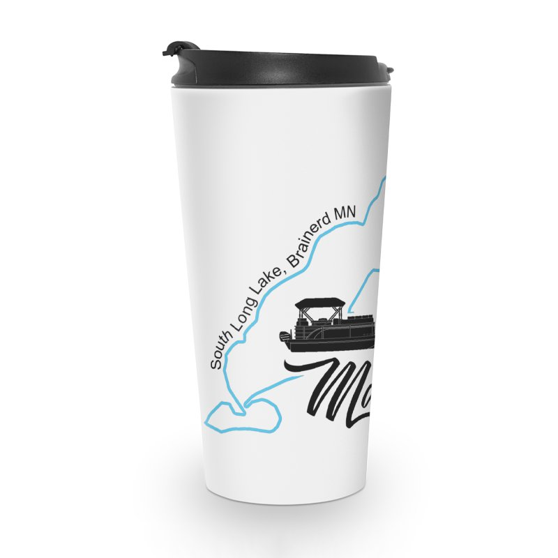 South Long Lake | Makin Waves | Black Lettering Accessories Travel Mug by Your Lake Apparel & Accessories