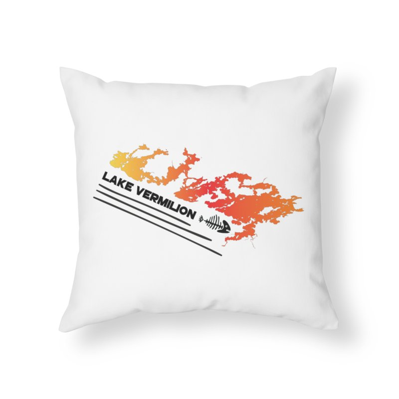 Lake Vermilion Home Throw Pillow by Your Lake Apparel & Accessories