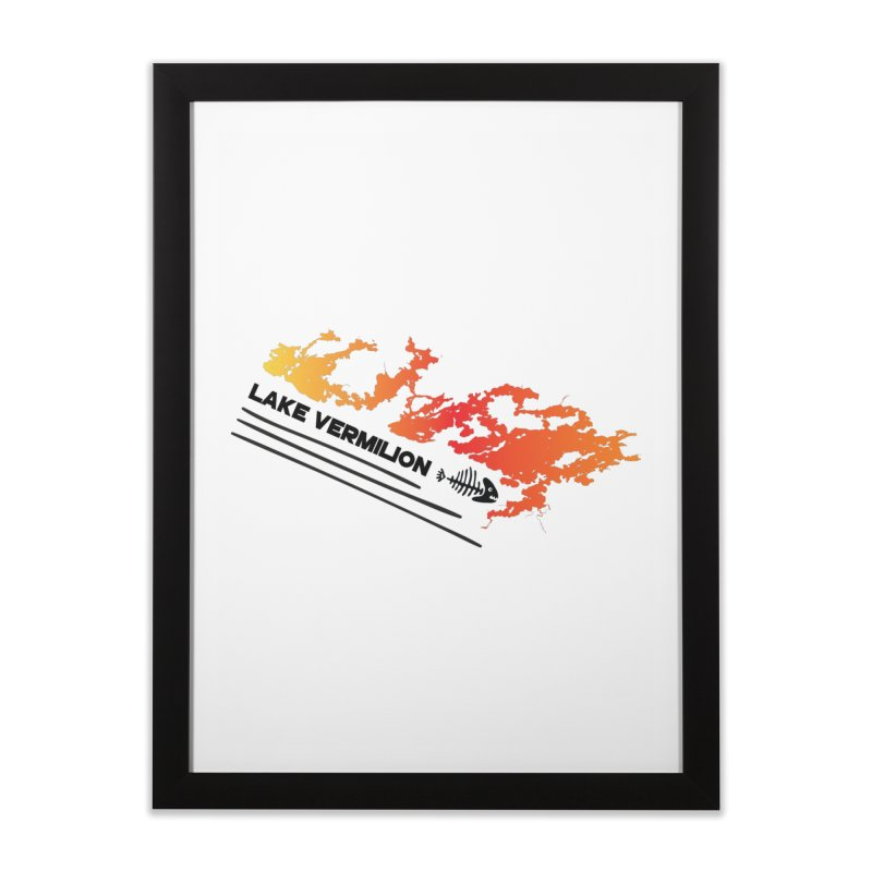 Lake Vermilion Home Framed Fine Art Print by Your Lake Apparel & Accessories