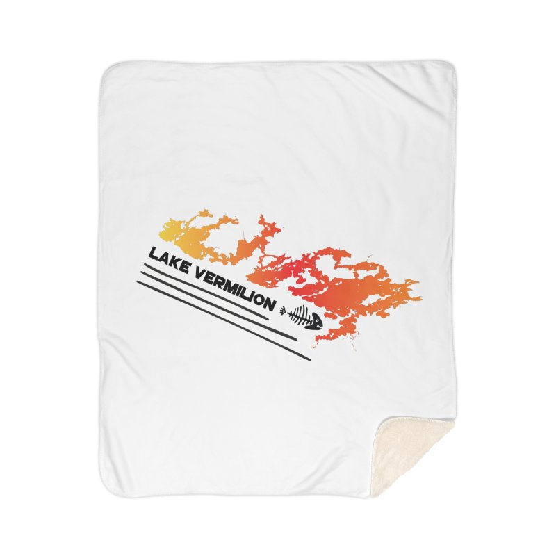 Lake Vermilion Home Sherpa Blanket Blanket by Your Lake Apparel & Accessories