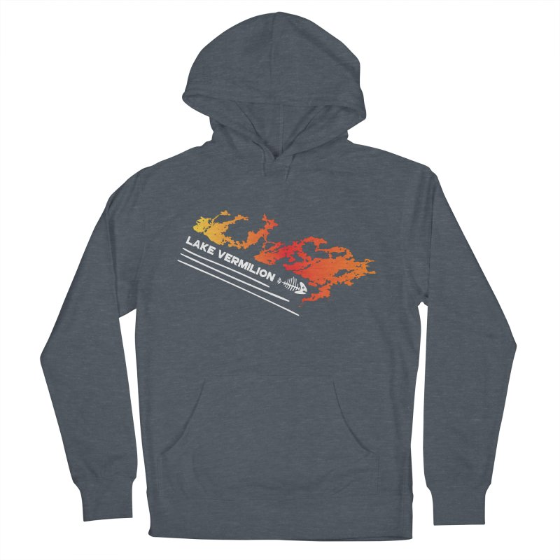 Lake Vermilion | White Lettering Women's French Terry Pullover Hoody by Your Lake Apparel & Accessories