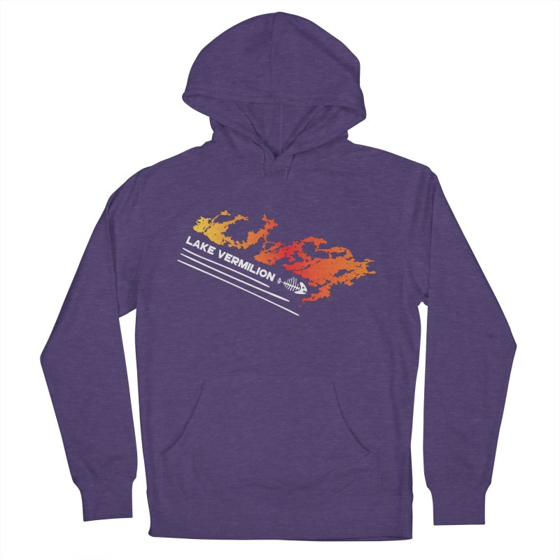 Lake Vermilion | White Lettering Men's French Terry Pullover Hoody by Your Lake Apparel & Accessories