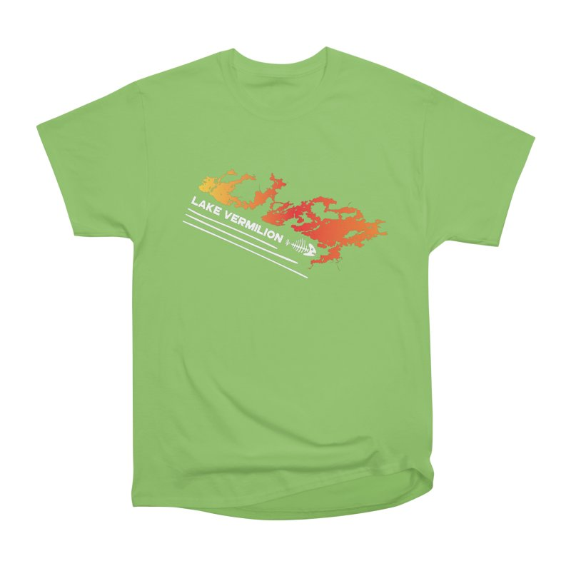 Lake Vermilion | White Lettering Women's Heavyweight Unisex T-Shirt by Your Lake Apparel & Accessories