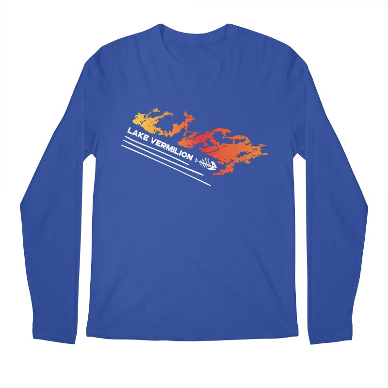 Lake Vermilion | White Lettering Men's Regular Longsleeve T-Shirt by Your Lake Apparel & Accessories