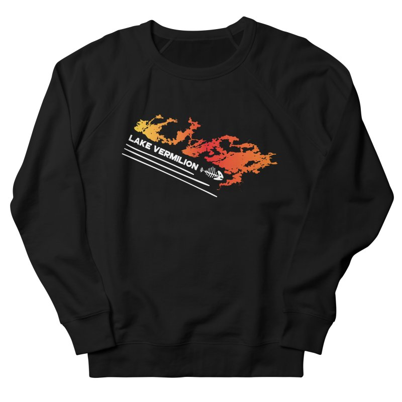Lake Vermilion | White Lettering Men's French Terry Sweatshirt by Your Lake Apparel & Accessories