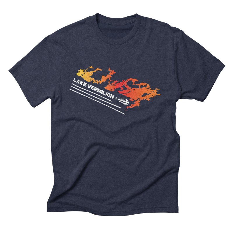Lake Vermilion | White Lettering Men's Triblend T-Shirt by Your Lake Apparel & Accessories