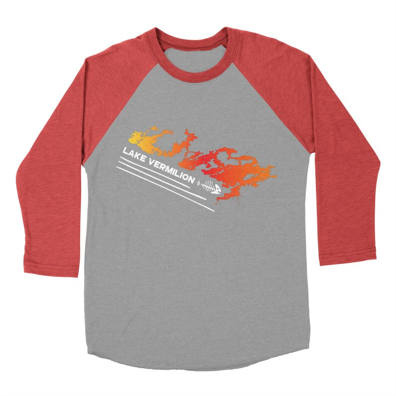 Lake Vermilion   White Lettering Women's Baseball Triblend Longsleeve T-Shirt by Your Lake Apparel & Accessories