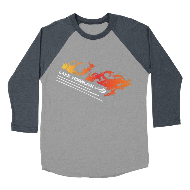 Lake Vermilion | White Lettering Men's Baseball Triblend Longsleeve T-Shirt by Your Lake Apparel & Accessories
