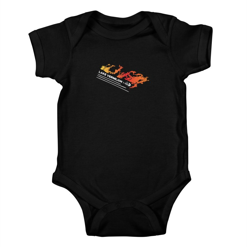 Lake Vermilion | White Lettering Kids Baby Bodysuit by Your Lake Apparel & Accessories