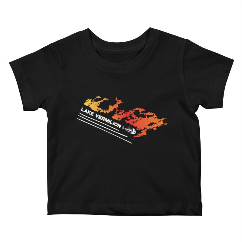 Lake Vermilion   White Lettering Kids Baby T-Shirt by Your Lake Apparel & Accessories