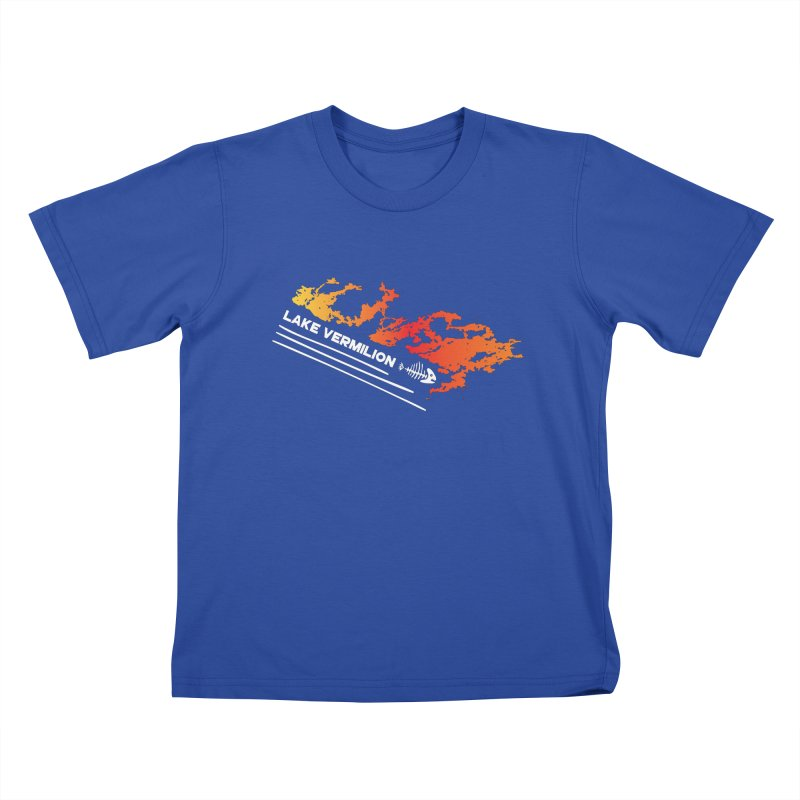 Lake Vermilion   White Lettering Kids T-Shirt by Your Lake Apparel & Accessories