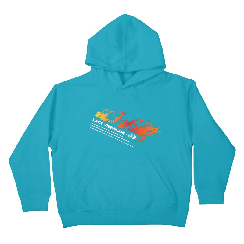 Lake Vermilion | White Lettering Kids Pullover Hoody by Your Lake Apparel & Accessories