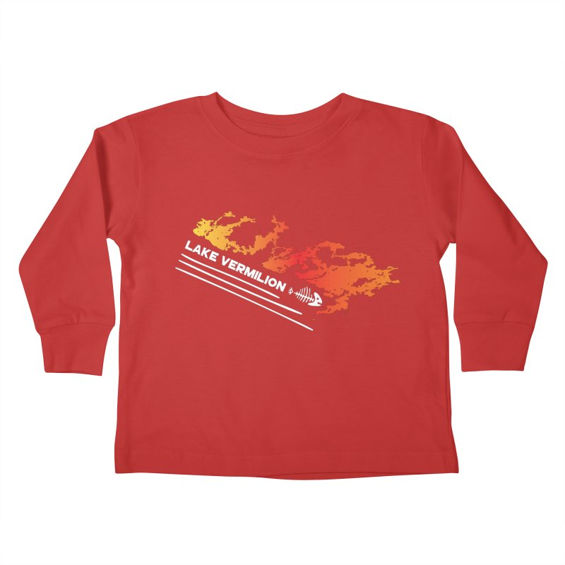 Lake Vermilion | White Lettering Kids Toddler Longsleeve T-Shirt by Your Lake Apparel & Accessories