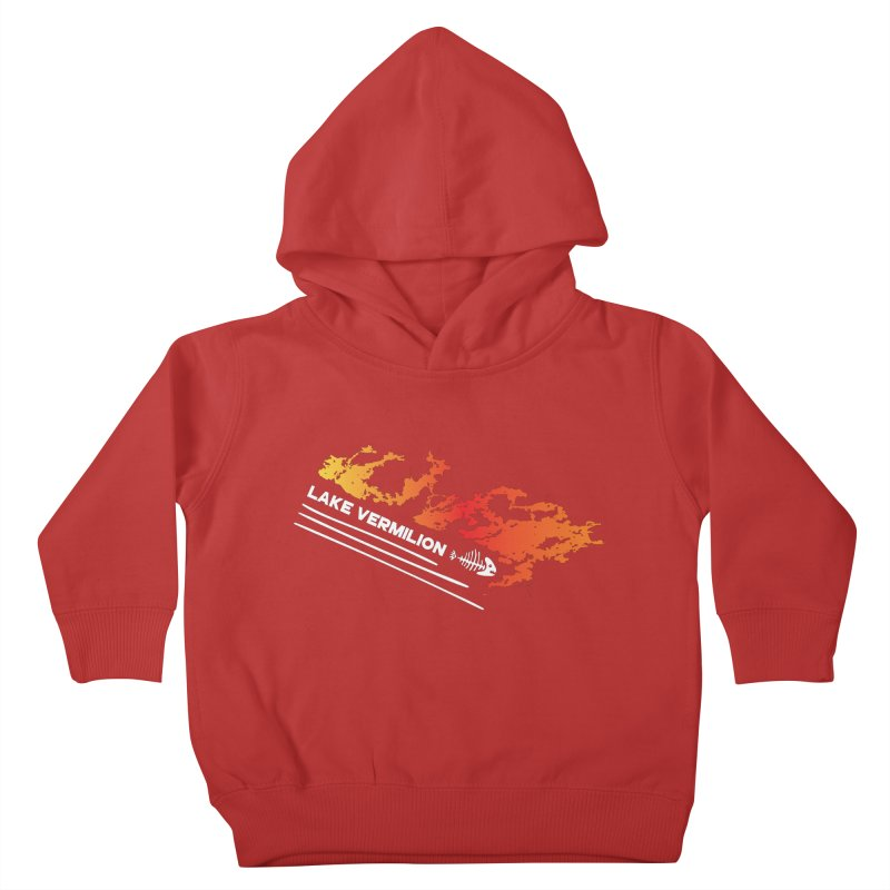 Lake Vermilion   White Lettering Kids Toddler Pullover Hoody by Your Lake Apparel & Accessories