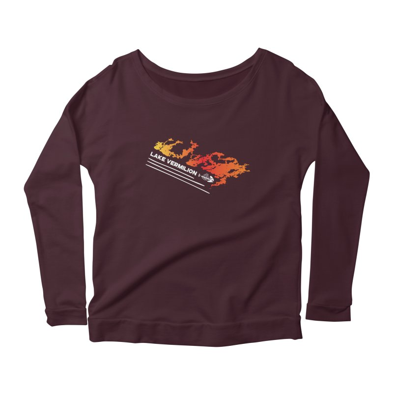 Lake Vermilion | White Lettering Women's Scoop Neck Longsleeve T-Shirt by Your Lake Apparel & Accessories