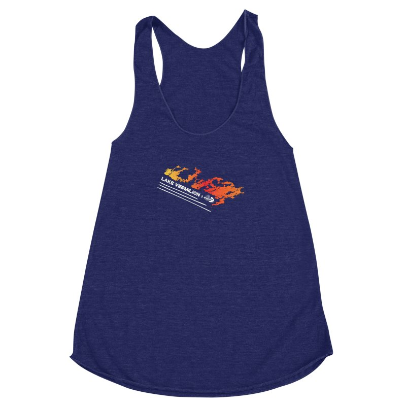 Lake Vermilion | White Lettering Women's Racerback Triblend Tank by Your Lake Apparel & Accessories