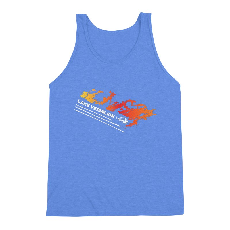 Lake Vermilion | White Lettering Men's Triblend Tank by Your Lake Apparel & Accessories
