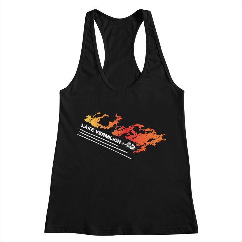 Lake Vermilion | White Lettering Women's Racerback Tank by Your Lake Apparel & Accessories