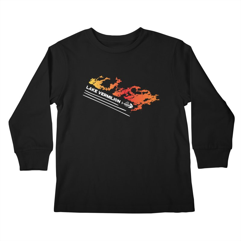 Lake Vermilion | White Lettering Kids Longsleeve T-Shirt by Your Lake Apparel & Accessories