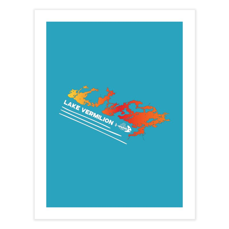 Lake Vermilion | White Lettering Home Fine Art Print by Your Lake Apparel & Accessories