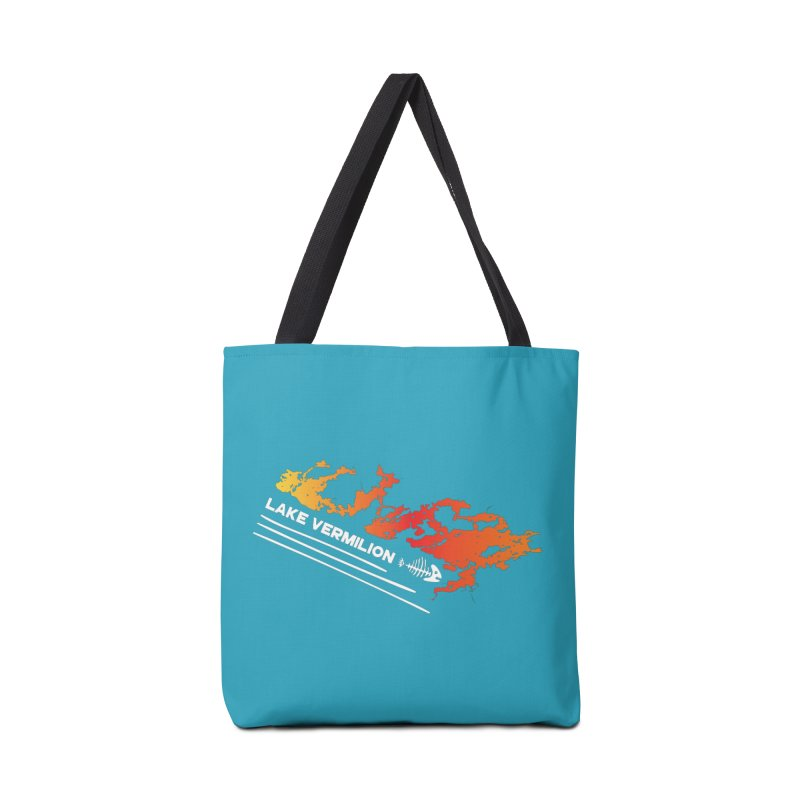 Lake Vermilion | White Lettering Accessories Tote Bag Bag by Your Lake Apparel & Accessories