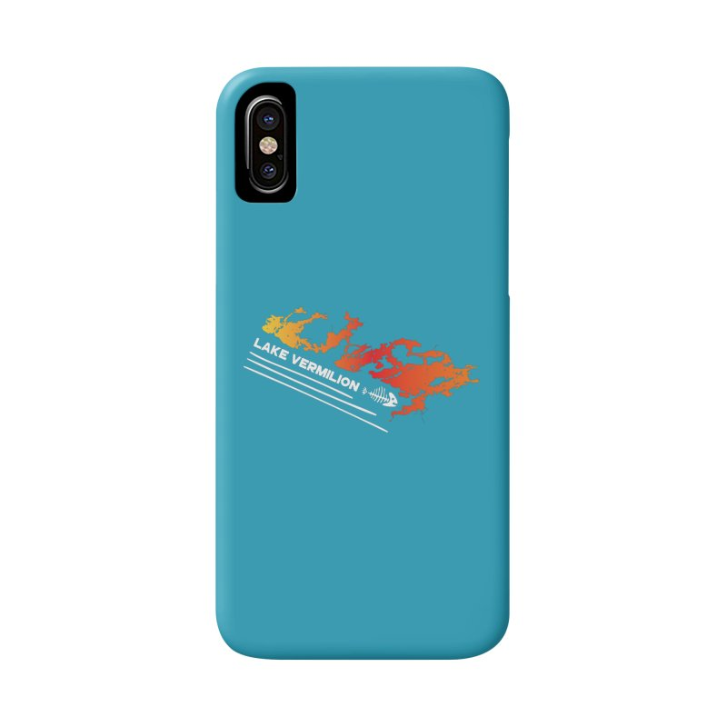Lake Vermilion | White Lettering Accessories Phone Case by Your Lake Apparel & Accessories