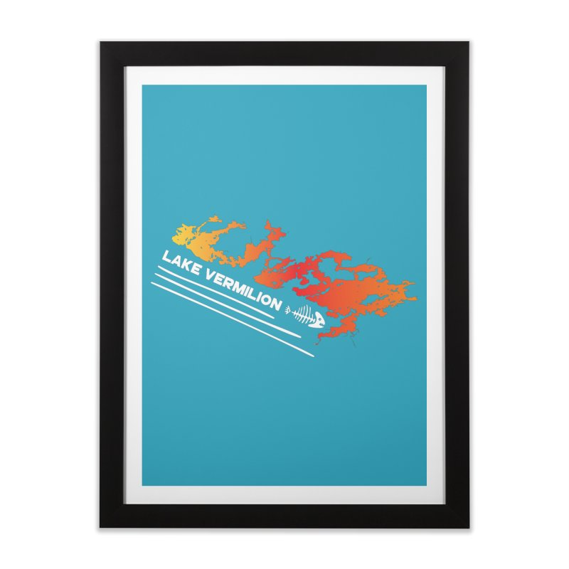 Lake Vermilion | White Lettering Home Framed Fine Art Print by Your Lake Apparel & Accessories