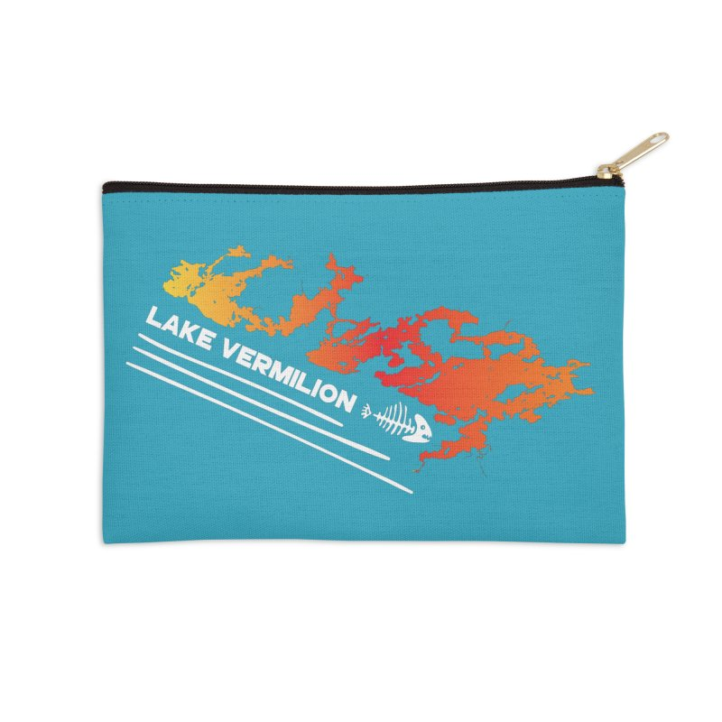 Lake Vermilion | White Lettering Accessories Zip Pouch by Your Lake Apparel & Accessories