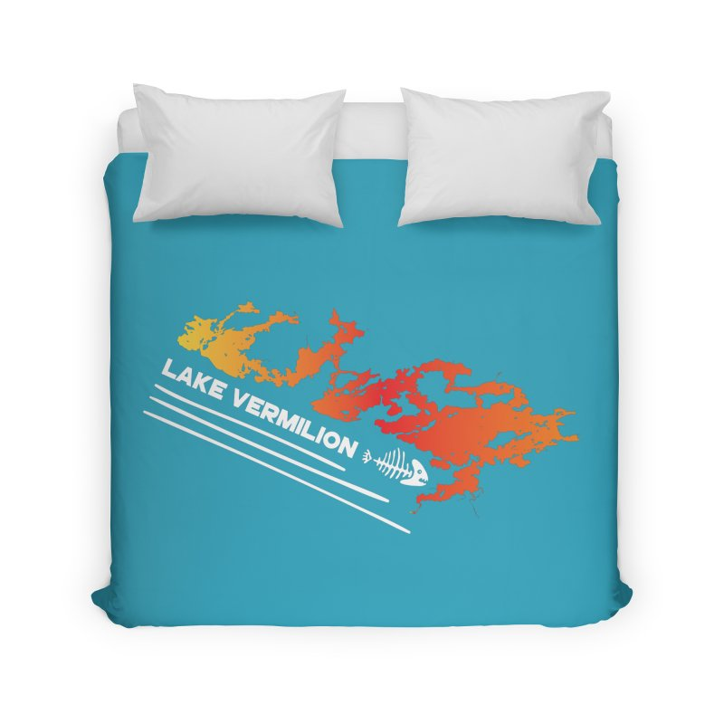 Lake Vermilion | White Lettering Home Duvet by Your Lake Apparel & Accessories