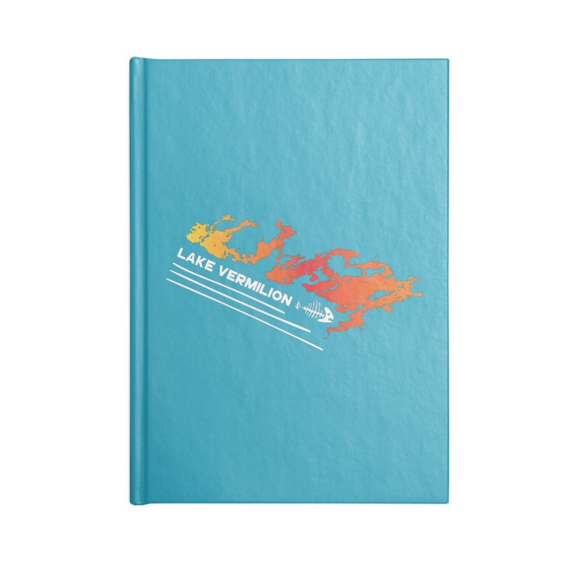 Lake Vermilion | White Lettering Accessories Blank Journal Notebook by Your Lake Apparel & Accessories