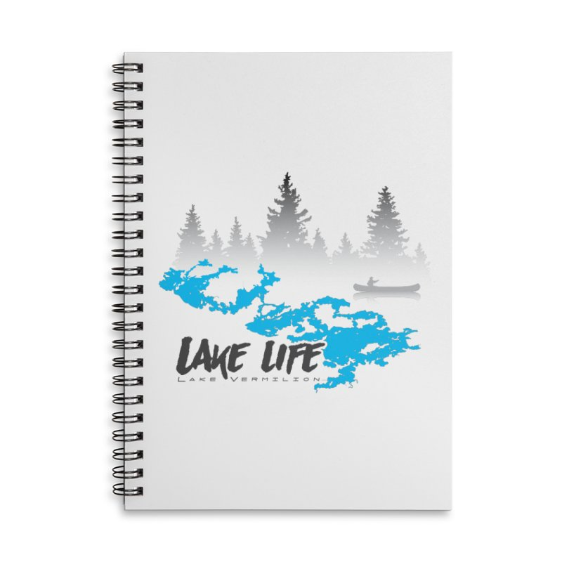 Lake Vermilion | Lake Life | Darker Lettering Accessories Lined Spiral Notebook by Your Lake Apparel & Accessories