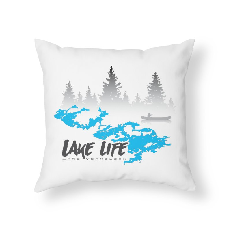 Lake Vermilion | Lake Life | Darker Lettering Home Throw Pillow by Your Lake Apparel & Accessories