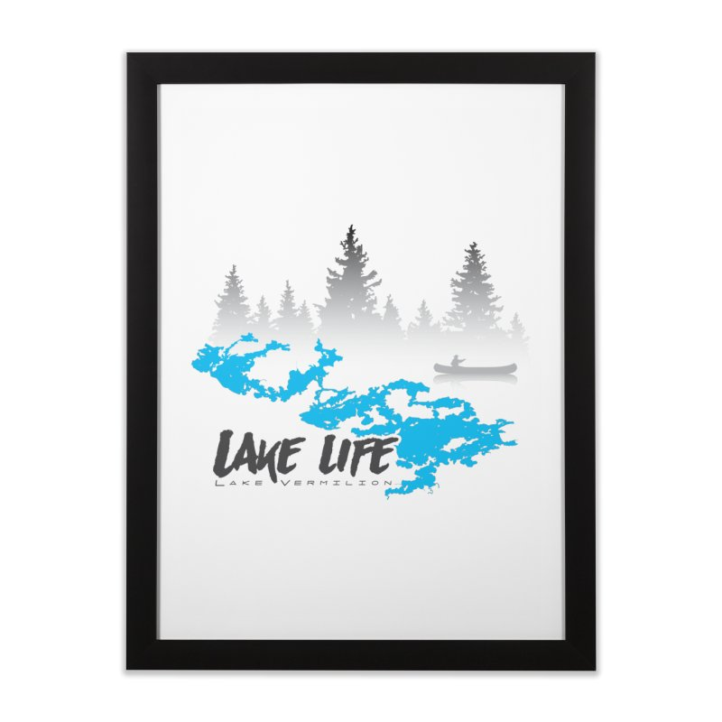 Lake Vermilion | Lake Life | Darker Lettering Home Framed Fine Art Print by Your Lake Apparel & Accessories