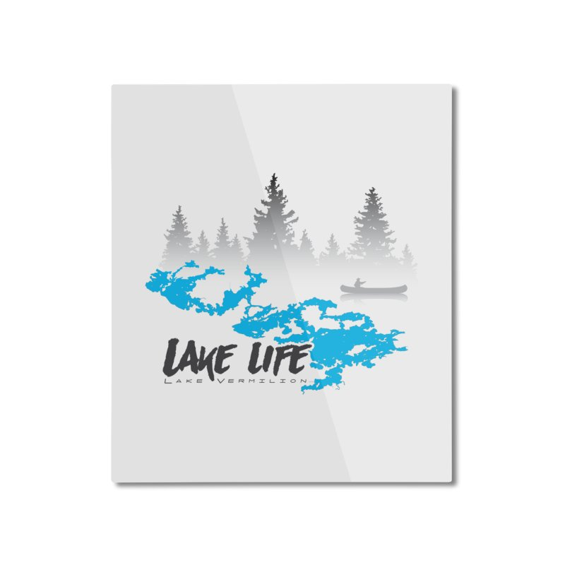 Lake Vermilion | Lake Life | Darker Lettering Home Mounted Aluminum Print by Your Lake Apparel & Accessories