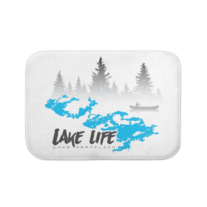Lake Vermilion | Lake Life | Darker Lettering Home Bath Mat by Your Lake Apparel & Accessories