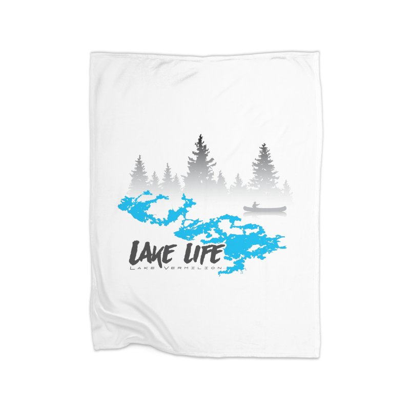 Lake Vermilion | Lake Life | Darker Lettering Home Fleece Blanket Blanket by Your Lake Apparel & Accessories